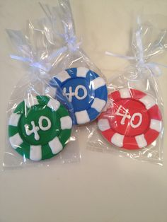 Poker Chips Cookie Favors personalize and by favorablecookies2, $2.25