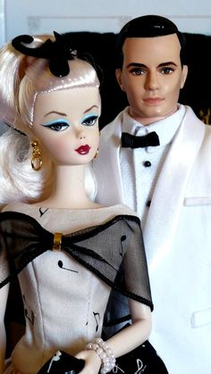Barbie and Ken - Ready for the Opera - in Black and White FROM: http://media-cache-ec0.pinimg.com/originals/2a/a2/d3/2aa2d36bcde85ea20fbc30217d12877e.jpg