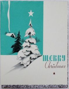 Rust Craft Art Deco Tree w/ Foil- Vintage Christmas Greeting Card Vintage Christmas Cards, Vintage Holiday, Christmas Greeting Cards, Christmas Art, Christmas Greetings, Vintage Cards, Christmas And New Year, Holiday Cards, Christmas Ornaments