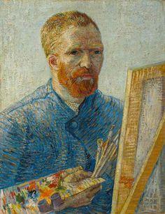 Vincent van Gogh's Self-Portrait as a Painter, 1887-88.