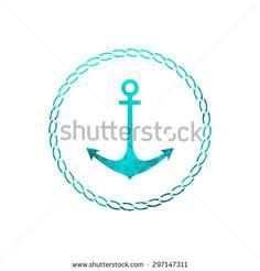 Watercolor Anchor Stock Vectors & Vector Clip Art | Shutterstock