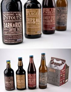 Freak Show beers - love how the set all use different shaped bottles to compliment the beer type and its subsequent character