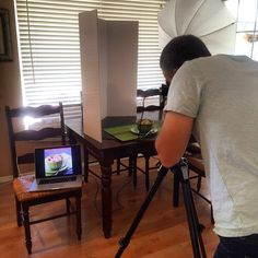 We are doing a photo shoot for my cookbook Prep-Ahead Meals From Scratch today!