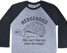 Hedgehogs t-shirt   Etsy NO Hedgehogs, Sweatshirts, Mens Tops, T Shirt, Etsy, Supreme T Shirt, Tee Shirt, Hedgehog, Trainers