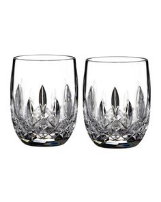 Lismore Rounded Tumblers, Set of 2 by Waterford Crystal at Neiman Marcus.