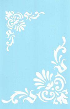 Stencil, Tracy Moreau, Tulip Corner Motif, 8 x 5 Damask Stencil, Stencil Patterns, Stencil Designs, Embroidery Patterns, Cricut Stencils, Letter Stencils, Bead Board Walls, Stencil Painting, Stenciling