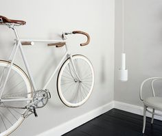 Minimal Father's Day gifts from Etsy - cool bike wooden bike hooks for bike storage in the living room Trendy Father's Day gifts from Etsy. Father's day gifts for a trendy Dad. Minimal Father's Day presents handmade by artists on Etsy. Hanging Bike Rack, Indoor Bike Rack, Indoor Bike Storage, Wall Mount Bike Rack, Bike Hooks, Bicycle Storage, Bike Mount, Bicycle Rack, Bike Storage In House