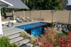 Modpools manufactures made in Canada modular, relocatable shipping container swimming pool and hot tub spas. Order your modern container pool today. Backyard Pool Landscaping, Backyard Pool Designs, Swimming Pools Backyard, Swimming Pool Designs, Backyard Ideas, Garden Ideas, Landscaping Ideas, Nice Backyard, Backyard House