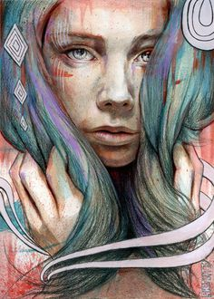 Onawa 9 x 12 Graphite / Carbon/  Acrylic / touch of Oil on Illustration Board Michael Shapcott 2009