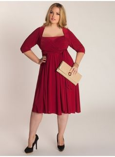 Ninelle Plus Size Dress in Crimson  Mother of the groom?