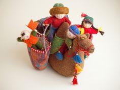 Erkebu, Kyrgyzstan, Felt, Dolls, Home Decor