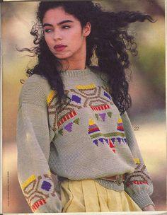 Vintage Aztec  Verena  knit 1990 ( with patterns)