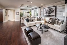Are You Loving The Wall Design In This Living Space?