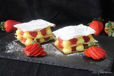 Se te hará la boca agua con solo ver la imagen de estas milhojas de pasta filo con crema pastelera y fresas que comparten desde el blog JULIA Y SUS RECETAS.