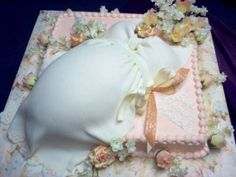Peachy Mother To Be By ellyrae on CakeCentral.com