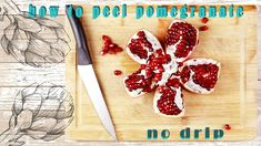 How To Peel Pomegranate Without Making A Mess   Easy Way With No Drip - YouTube Bamboo Cutting Board, Fresh Fruit, Pomegranate, Vitamins, Channel, Simple, Easy, Youtube, How To Make