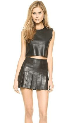 Love Leather | The Candy Crop Top #loveleather #crop #top