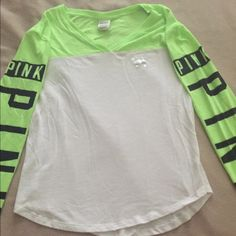 VS Pink long sleeve Super cute. Light weight. Worn like 5 times. Great condition. PINK Victoria's Secret Tops Tees - Long Sleeve
