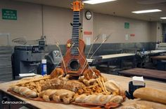Guitar made from bread centerpiece at Gaylord Opryland