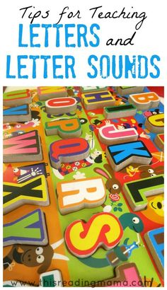 Really great post about teaching letters alongside letter sounds... and much more!