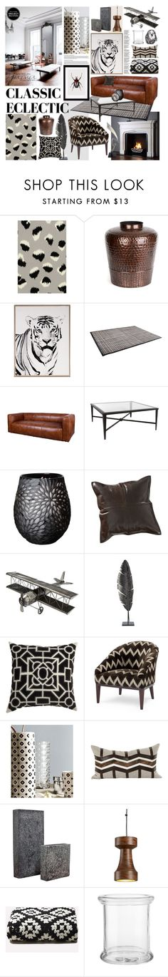 """Classic Ecletic"" by szaboesz ❤ liked on Polyvore featuring interior, interiors, interior design, home, home decor, interior decorating, Kelly Wearstler, Flamant, BoConcept and Allan Copley Designs"
