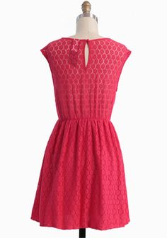 Countryside Love Lace Dress In Red | Modern Vintage New Arrivals