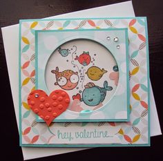 """Coastal Cabana, Calypso Coral, and Whisper White card stock. Best Year Ever DSP. """"Sale - A- Bration 2015"""" Stampin Up - Stampin' Write Markers in coordinating colors. Memento Tuxedo Black, and Coastal Cabana ink. Hey, Valentine Stamp Set """"Occasions Catalog 2015"""" Sweetheart Punch. Circles Framelits. Decorative Dots Embossing Folder. Rhinestones Basic Jewels. Itty Bitty Accents Punch Pack (heart). Bermuda Bay Sequin Trim."""