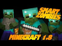 Minecraft Redstone | SMART ZOMBIES | Zombies Dig, Build, Run, & More! (Minecraft Redstone) - YouTube