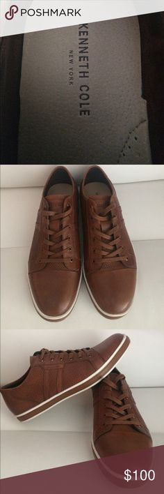 Kenneth Cole - Brand Wagon 2 Low-Top Sneaker Kenneth Cole - Brand Wagon 2 Low-Top Sneaker- Color: Cognac - Size: 10 - PERFECT CONDITION! Wore around my kitchen for less than 10 minutes & decided I didn't want them anymore. Lol Shoes Sneakers