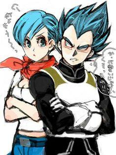 vegeta y bulma blue hair couple❤