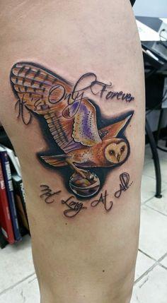 Labyrinth Owl and Clock, ummmm I looooooooove this one!! I ... Labyrinth Owl Tattoo