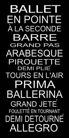You either have to know French or be a dancer to understand this :)