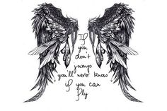 """Love the wings and want something different in the center,for my grandpa. """"we only part to meet again"""" in between the wings ♥"""