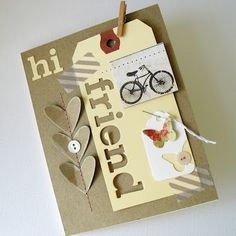 This is an awesome and different card by Kathy Martin. Cool design and look.