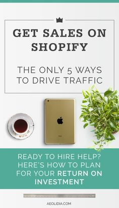 Today we're talking about how to get more sales on Shopify - or how to get any sales on Shopify! Shopify doesn't have a built in search engine like Etsy, because it's not a marketplace. It's your own independent shop, which is great, and what you want. But with your own shop, you are responsible for every customer that comes through your virtual door. Click to read more, or save this pin to read later…