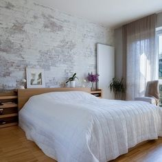 1000 images about brick wallpaper on pinterest brick for White brick wallpaper bedroom