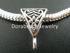 b02491 Yiwu Easy To Use Doreenbeads 50 Pcs Antique Silver Slider Bail Beads Fit European Charm 15x10mm