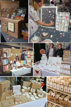 Craft stall display, market stall display, craft show booths, market displa Craft Stall Display, Market Stall Display, Craft Fair Displays, Market Displays, Display Ideas, Booth Ideas, Ideas Bazar, Stall Decorations, Craft Fair Table