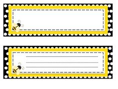 Bee Theme Classroom Decor The collection includes: Table/chair signs in coordinating patterns. Classroom Setup, Kindergarten Classroom, Future Classroom, Classroom Organization, School Labels, Spelling Bee, Beginning Of School, Teaching Tools, Elementary Schools