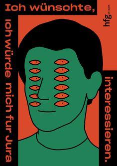 Profi Aesthetics design a tongue-in-cheek university campaign with Jan Buchczik Graphic Design Posters, Graphic Design Illustration, Graphic Design Inspiration, Graphic Art, Illustration Art, Bd Design, Plakat Design, Jolie Photo, Art Graphique