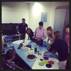 Move-in party in the new office! #comboapp #comboappoffice #comboappteam #party #champaign #cakes #agency #stuff #meeting