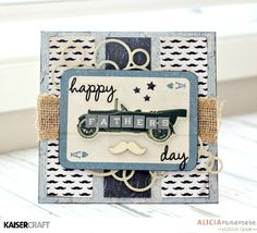 Kaisercraft Barber Shoppe Father's Day Card by Alicia McNamara