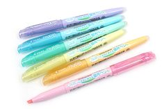 Pilot FriXion Light Soft Color Erasable Highlighter - 6 Color Set - PILOT SFL-60SL-6CS #filofax