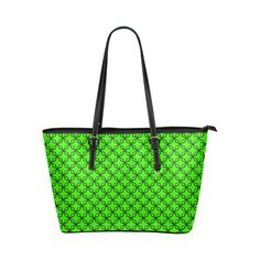 solid 3 Leather Tote Bag/Large (Model 1651)