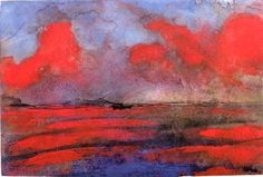 Landscape in Red Light ~ Emil Nolde |