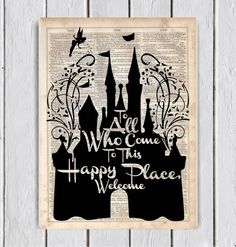 Walt Disney Castle Quote Dictionary Art by MySilhouetteShoppe