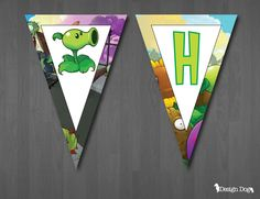 INSTANT DOWNLOAD  Plants vs. Zombies Birthday by TheDesignDog, $4.99