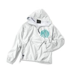 Monogrammed personalized pullover Jacket Rain jacket Sorority Greek Charles River Brand on Etsy, $38.00