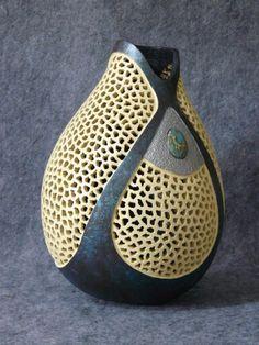Beautiful gourd art by Kathe Stark!