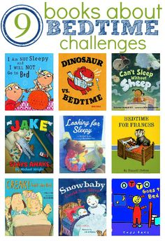 Bedtime can be so hard sometimes!  9 great books with characters that don't want to go to bed! Notimeforflashcards